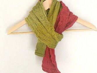 イギリス製毛糸100%アルパカ,ニットのマフラーの画像