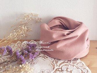 スイート ピンク ウール 100% 良品質 スヌード♪の画像