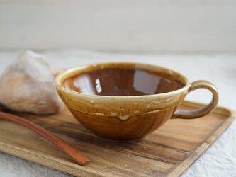 茶飴釉のスープカップ No.017の画像