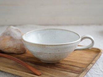 月下白のスープカップ No.108の画像