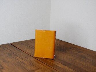 文庫サイズBOOKカバー 4色ビーズイタリアンレザー YEの画像