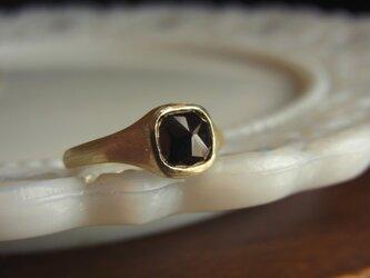 限定K10 ローズカットダイアのリングの画像