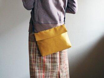 からし色のショルダ帯ーバッグ(受注制作)--単(ひとえ)帯からの画像