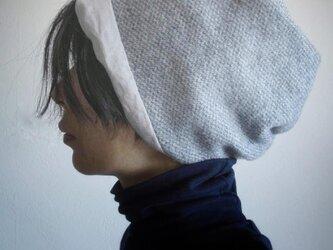 ターバンな帽子 グレージュB 送料無料の画像