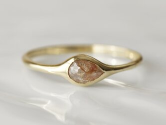 K10製 ダイヤモンドのリングの画像
