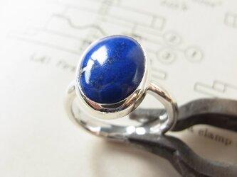 ラピスラズリのリングの画像