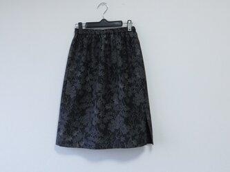 *アンティーク着物*十日町紬のセミタイトスカート(ひざ丈・裏地つき)の画像