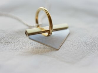 シルバー&真鍮ネックレス SILVER&BRASS NECKLACE - N048の画像