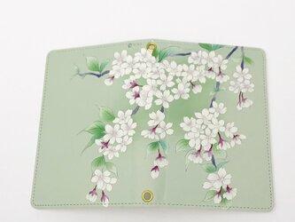 パスポートケース / 桜 さくら * 白緑の画像
