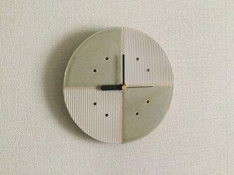 十字柄ウォールクロック(松灰釉)の画像