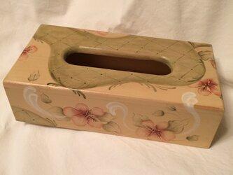ハイビスカスのティッシュの箱の画像