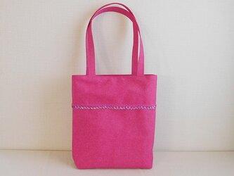 ピンクローズ スパンコール付きバッグの画像