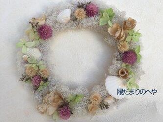 千日紅と白いモスのリース♡ #誕生日ギフト #新築・引っ越し祝い #就職祝いの画像