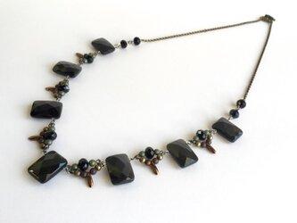 限定1個・黒い天然石ネックレスの画像