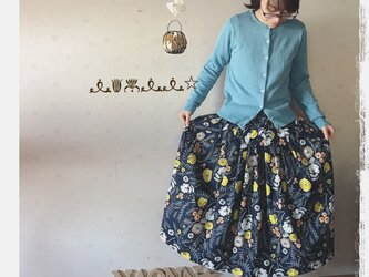 タック&ギャザースカート(花柄)の画像