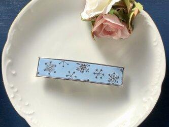 『送料無料』バレッタ snowcrystal(ブルー) / ポリマークレイの画像
