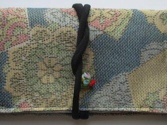 送料無料 色大島紬で作った和風財布・ポーチ 4010の画像