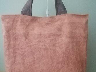 柿渋染め帆布バッグ·もち手も柿渋染め帆布の画像