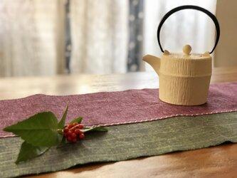 遠州綿紬 テーブルランナー 150の画像