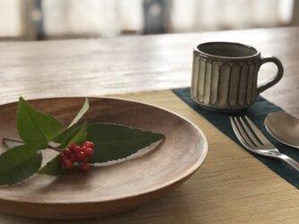 遠州綿紬 リバーシブルランチョンマットの画像