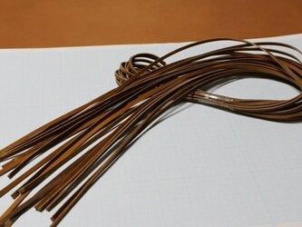本革紐(キャメル)3mm幅×1M×10本 裏面(床面)毛羽処理済の画像