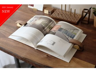 真鍮とウォールナットのブッククリップ 2個セット  No5 No6の画像