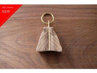【送料無料】真鍮とウォールナットのキーホルダー / キーリング No2の画像