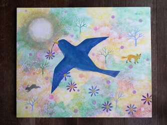 絵画「時空を繋ぐ鳥」の画像