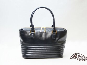 【送料無料】バッファローB5トートバッグ レディース ブラック【日本製】の画像