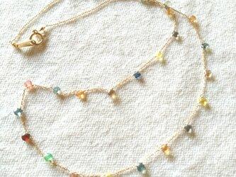 K18 baby marron sapphire necklaceの画像