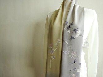 花を纏う古布スカーフの画像