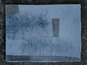 和紙染め板皿長角 5の画像