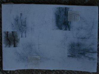 和紙染め板皿 小 角 5の画像