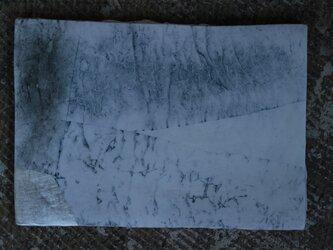 和紙染め板皿 小 角 6の画像