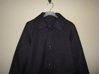 「丸衿*ラグランスリーブコート」の画像