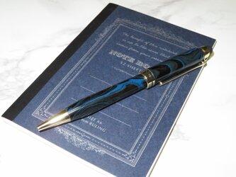 タッチペン機能付きヨーロピアンボールペン エボナイトブルーの画像
