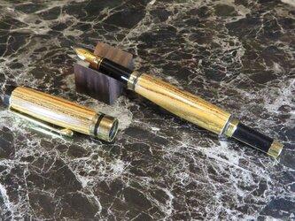 銘木リオグランデパリサンダーの手作り万年筆の画像
