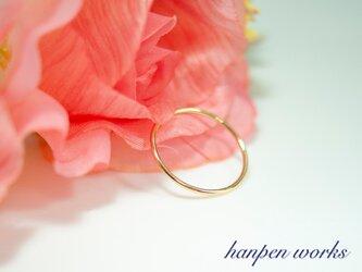 14kgf シンプル プレーンリング 指輪の画像