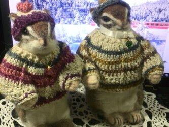 シマリス♪冬のウェルカムドールの画像