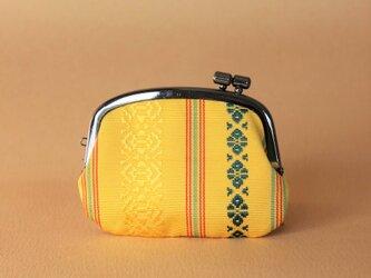 着物リメイクがまぐち《くし》 博多織・独鈷柄黄の画像