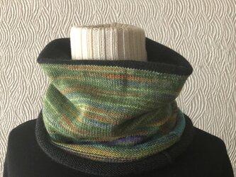 opal毛糸のネックウォーマーの画像