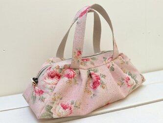 ミニボストンバッグ「レトロ・ピンク」の画像