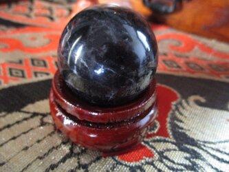 在庫限り 天然黒水晶:モリオン 丸玉 33mm 0110の画像