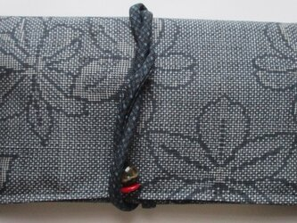 送料無料 大島紬で作った和風財布・ポーチ 4015の画像