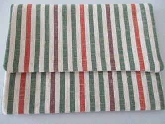 会津木綿の通帳入れの画像