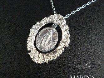 Marie - フランスアンティークメダイのロングネックレスの画像