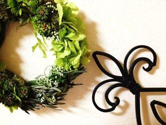Green wreath(リース)の画像