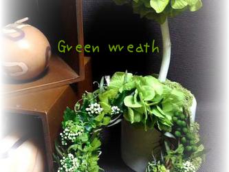 mini Green wreath(リース)の画像