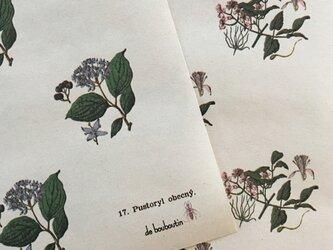 hungary botanicalflower wrappingpaper 8Set (№10 et №17)の画像