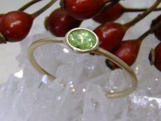 デマントイドガーネット*K14lunapinkgold ringの画像